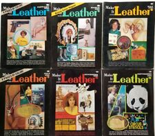 Make it Leather vintage Magazines 6 issues 1980 year complete pullouts patterns