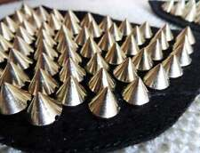 1 Pair of shoulder patch trims, black with gold studs / spikes