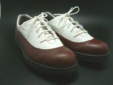 Ecco Hydromax Women's Lace Up Two Tone Golf Shoes Arch Support Size 40 (Us 9)