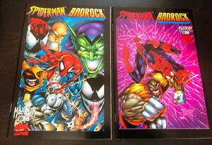SPIDER-MAN / BADROCK (Marvel / Maximum Press 1997) -- #1 + #1 Variant -- Set