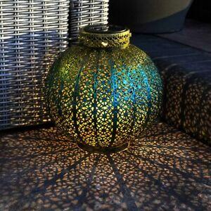 Solar Power Outdoor Hanging LED Moroccan Light Up Lantern | Garden Decor