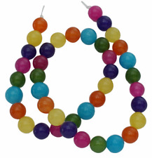 8mm round jade beads, mixed colors, smooth, full strand, 50 beads, gjd0021