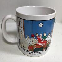 The Far Side Coffee Cup Mug Gary Larson 1986 Mr. Osborne My Brain Is Full Vtg