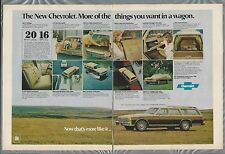 1977 CHEVROLET CAPRICE wagon 2-page advertisement, Chevy Caprice ad