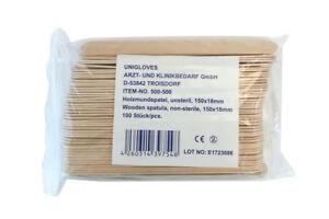 Unigloves Mundspatel | aus Holz | 100 Stück