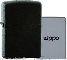 Zippo schwarz black crackle 1029236  #218 regular size MADE IN USA