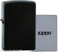 Zippo schwarz black crackle 1029236  #218 regular size MADE IN USA