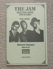 Original The Jam 1980 Concert Poster Setting Sons Tour Ontario Theater