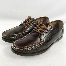 Ralph Lauren Polo Brown Leather Boat Deck Moccasin Shoes Basildon  UK 7 - EU 41
