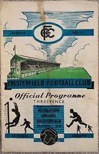 More details for chesterfield reserves v liverpool reserves 1952/53