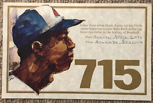 "VINTAGE 1974 Hank Aaron ""I Was There 715 Home Run"" Certificate, Atlanta Braves!"