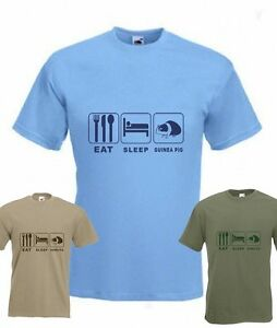 Eat Sleep Guinea Pig Funny T-shirt in all Sizes & choice of colours