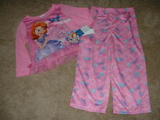 DISNEY PINK SOFIA THE FIRST PANTS PAJAMAS SET 4T 4 NWT NEW CUTE TODDLER GIRLS