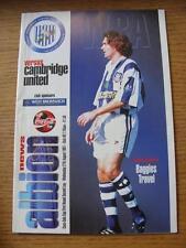 27/08/1997 West Bromwich Albion v Cambridge United [Football League Cup] (Item h