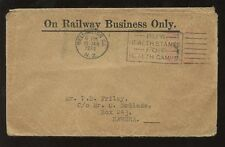 NEW ZEALAND 1934 RAILWAY BUSINESS OFFICIAL ENVELOPE to HAWERA