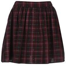 Soul Cal Luxe Check Skirt Burgundy Size XS UK 8 LF076 DD 02
