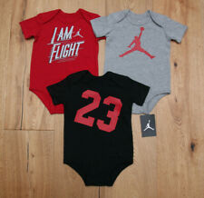 8f0ac7112e4 Air Jordan Jumpman #23 3pc Bodysuits Set Black Red Gray Baby Boy 6-9m