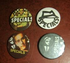 Two-Tone Band The Specials - Vintage Tin Small Lapel Badges circa 1980.