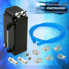 For Honda Billet Aluminum Black 600ML Oil Catch Can Reservoir Square Tank + Hose(Fits: More than one vehicle)