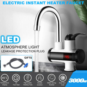 220V Sofortigerelektrische Wasserhahn Spültisch Durchlauferhitzer Armatur LED DE