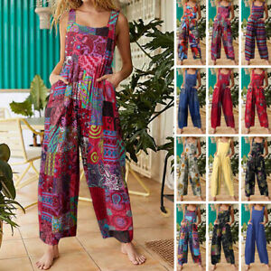 Women Jumpsuits Party Club Playsuits Wide Leg Long Trousers Loose Casual Overall