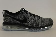 Men's Nike Flyknit Air Max Oreo White Black 620469-105 Size 8.5 New DS