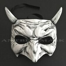 Devil Half Face Halloween Masquerade Ball Costume Prom Party Mask