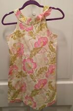 JUST DUCKY pink and green dress, euc, size12, USA