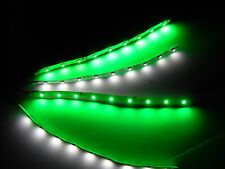 """Superbright RC Green and White Underbody glow LED Strip Lights FPV Quadcopter 6"""""""