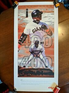 Barry Bonds Kellogg 400-400 Club Commemorative Poster