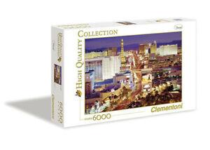 Puzzle 6000 pezzi Las Vegas Panorami Città Clementoni 36510