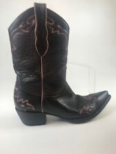 The Old Gringo Brown Womens Basic Pointed Toe Cowboy Boots Leather Size 7.5
