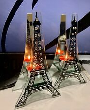 2 Pcs. Eiffel Tower Glass Candle Holder