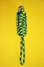 550 ParaCord Mummy Lanyard - Aquatica w/ Skull - Great for Knives, Tools or Gear