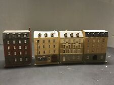 lot of 4 POLA N scale European style townhouse buildings