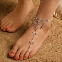 Women Elegant Silver Wrap String Anklet Foot Chain Ankle Bracelet