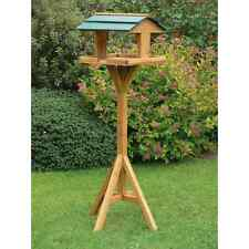 TRADITIONAL WOODEN BIRD TABLE GARDEN BIRDS FEEDER FEEDING STATION FREE STANDING