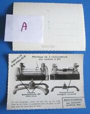 A / Jean Dagonet / CITROEN 2 CV / carte postale ; montage de 2 carburateurs