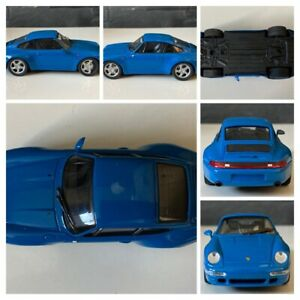 SCHÜCO Porsche 911 Carrera 4 S (1995-1997) Bleu Roi 1:43