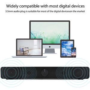 Sound Bar Speaker 3D HiFi Surround Speakers Stereo Home Musics Player UK