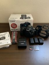 Canon EOS 80D 24.2MP Digital SLR Camera - Black (Body Only) *Mint Condition