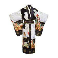 Woman Lady Japanese Tradition Yukata Kimono Vintage Dress Cosplay Flower Vintage