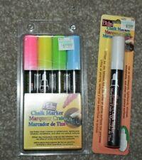 Bistro Chalk Marker Set neon 4-Color, plus a white 5 total