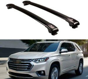 2P Roof Rail Racks Cross Bar Crossbar Fit for Chevy Chevrolet Traverse 2018-2020