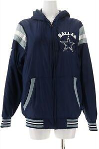 NFL Dallas Ultimate Fan Reversible Hooded Zip Jacket Cowboys M # A311199