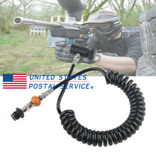 Hpa Quick Disconnect Paintball Hose Remote Coil Line&Slide Check Pcp Adapter