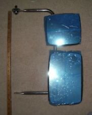 Mirror & Bracket Assy, Flat Glass & Convex  Heads, Stainless, Van/Box Truck,new