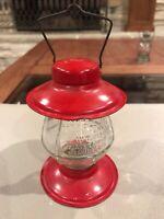 "Vintage railroad train glass candy container ""STROUGH'S NO. 81 LANTERN""  1957"