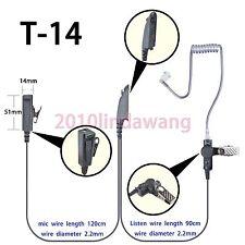 2-wire Surveillance Earpiece For Motorola GP640 GP680 GP580 GP240 Portable Radio