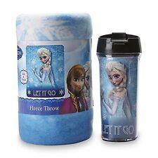 Frozen Mug And Snug Set Traveler Mug & Cozy Fleece Throw